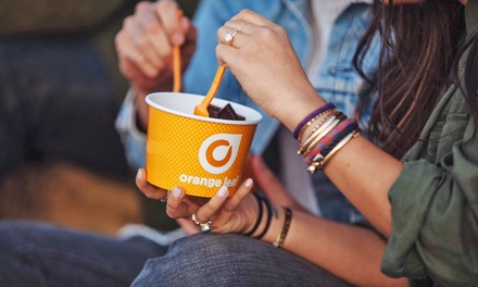 Frozen Yogurt at Orange Leaf (40% Off). Two Options Available.