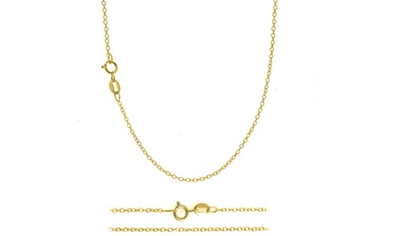 18K Gold–Plated Italian Cable Chain