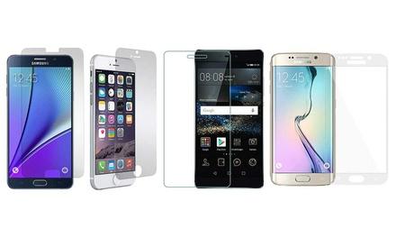 Displayschutz aus gehärtetem Glas für Apple iPhone, Samsung Galaxy, Samsung, Sony Experia oder Huawei P8 (77% sparen*)