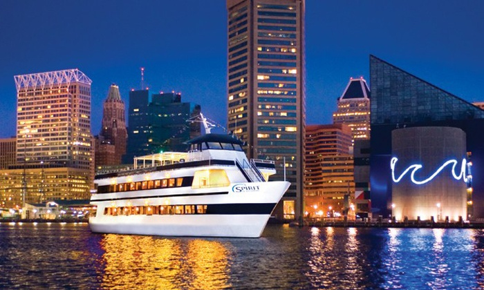 "Spirit of Baltimore - Inner Harbor: Three-Hour Dinner Cruise for One on ""Spirit of Baltimore"" (Up to 44% Off). Three Options Available."