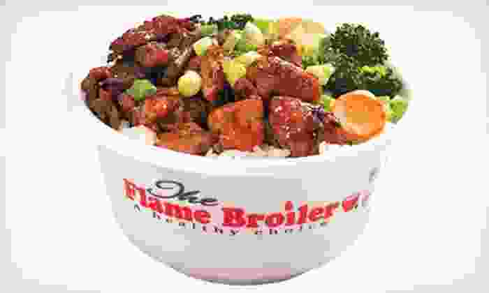 The Flame Broiler - Tapestry Park: $10 for $20 for Quick-Service Healthy Asian Food at The Flame Broiler