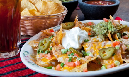 Mexican Food at El Paso Mexican Restaurant (40% Off). Two Options Available.