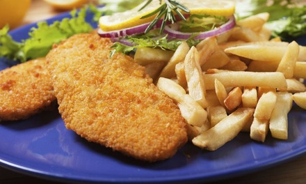 Lunch: schnitzel naar keuze incl. friet en salade bij Eetablissement Slootweg in Den Haag
