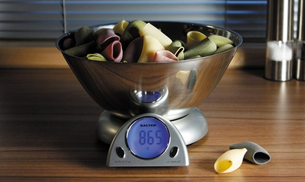 One (AED 159), Two (AED 299) or Three (AED 435) Salter 10kg Mix and Measure Digital Kitchen Scales