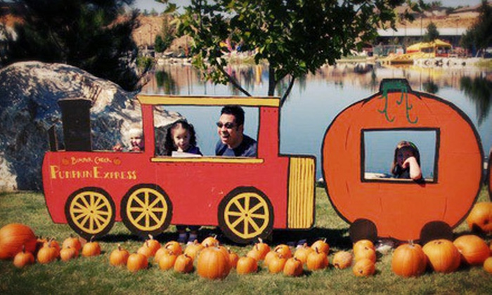 """""""Harvest Festival"""" at Boulder Creek Ranch - Hesperia: Pumpkin Patch Visit at Harvest Festival at Boulder Creek Ranch (Up to 54% Off). Three Options Available."""