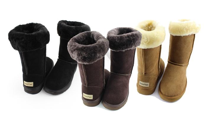 Bottes fourres Snow Paw en cuir sud 100% peau de mouton à 4499€ (75% de rduction)