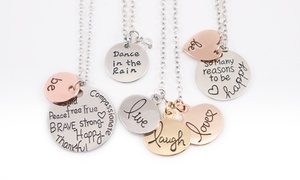 Stamp the Moment: Happy Necklaces from Stamp the Moment