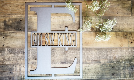 Up to 62% Off Metal Monogram Signs