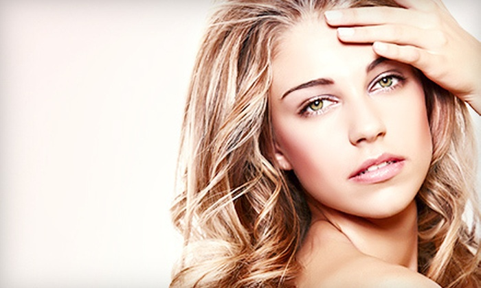 Shear Steel Salon - Monticello: Haircut, Style, and Blowout with Conditioning, All-Over Color, or Partial Highlights at Shear Steel Salon (Up to 68% Off)
