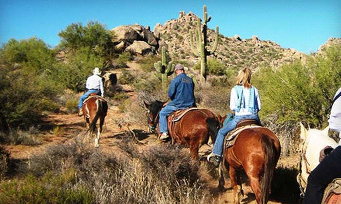 Cave Creek Outfitters - Tonto National Forest: Trail Ride on Horseback for One or Two from Cave Creek Outfitters (Up to 52% Off). Three Options Available.