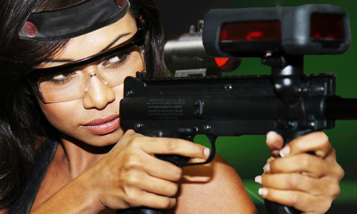 Battleground Orlando Laser Tag - Battleground Orlando Tactical Laser Tag: Two-Hour Laser-Tag Outing with a Slice of Pizza for One, Two, or Four (Up to 56% Off)