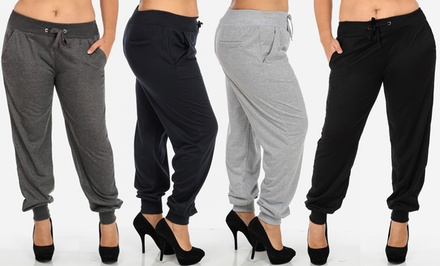 Plus Size Stretch Joggers