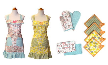 100% Cotton Apron Set (9-Piece)