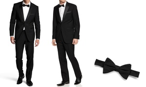 Fellini Classic or Slim Fit Tuxedo with Free Bow Tie