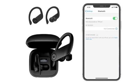 B5 TWS 5.0 Wireless Hook Earphones Set