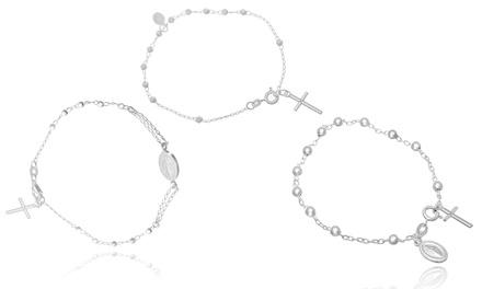 Rosary Bracelets in Italian Sterling Silver