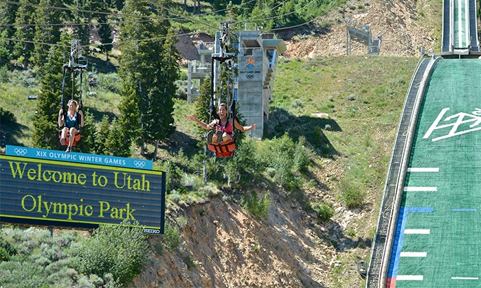 Utah Olympic Park - Park City: Unlimited Day of Activities for 2 Youths or 2 Adults at Utah Olympic Park (Up to 50%Off). 4 Options Available.