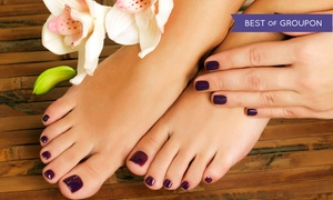 Salon10 By SONIA: Mani-Pedi with Optional Threading, Facial, or Threading and Facial from Salon10 By SONIA (Up to 59% Off)