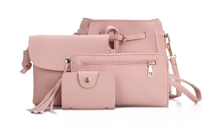 4er Set Damen Taschen in der Farbe nach Wahl mit Quasten