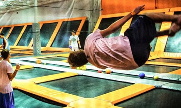 AirTime Trampoline & Game Park - Downtown Troy: $14 for One Hour of Trampoline Time for Two at AirTime Trampoline & Game Park ($24 Value)