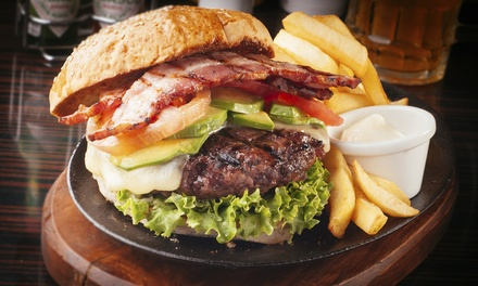 Pizza and Burgers at Mike's Pizza and Burgers (50% Off). Two Options Available.