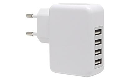 1 o 2 cargadores de pared con 4 puertos USB 3.1A