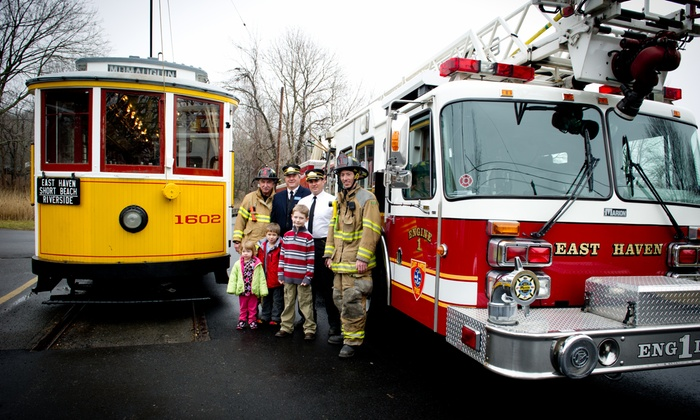 The Shore Line Trolley Museum - East Shore: Firetruck Show for Two or Four or at The Shore Line Trolley Museum (Up to 40% Off)