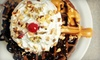 The Ice Cream Company - Modesto: Junior Waffle Sundae and a Drink for Two or Four People, or Six Small French-Press Coffees at Ice Cream Company (Up to 67% Off)