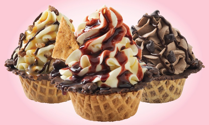 Marble Slab Creamery - Langley Village at Thunderbird: Six or a Dozen Gourmet Ice Cream Cupcakes at Marble Slab Creamery (Up to 48%)