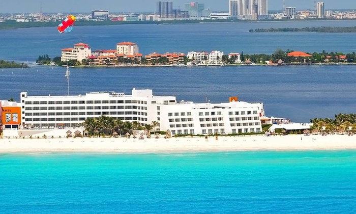 Flamingo Cancun Resort Stay with Airfare from Vacation Express - Cancun: 5-, 6-, or 7-Night Flamingo Cancun Stay with Airfare. Includes Taxes and Fees. Price/Person Based on Double Occupancy.
