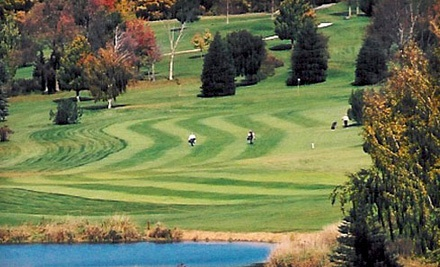 18-Hole Round of Golf with Cart Rental for Two People - The Golf Club at Camelot in Lomira