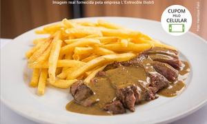 L'Entrecôte Bistrô: L'Entrecôte Bistrô – Lourdes: salada, entrecôte com fritas e mousse de chocolate para 2 pessoas