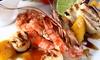Menu pesce sapori del Mediterraneo con vino