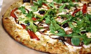 "Pizza Studio-Farmingdale: Three or Five Groupons, Each Good for One 11"" Pizza and Fountain Drink at Pizza Studio (Up to 50% Off)"