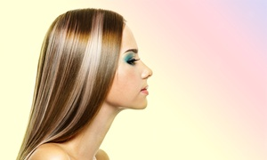 The Hair Connection: Haircut Package with Options for Highlights or Color at The Hair Connection (Up to 52% Off). Three Options Available.