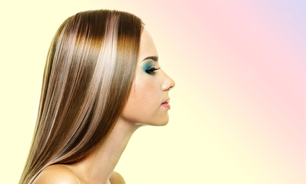 Haircut Package with Options for Highlights or Color at The Hair Connection (Up to 52% Off). Three Options Available.