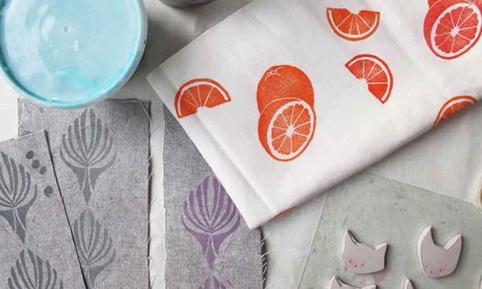 Block Printing Class - San Francisco: Learn the Art of Block Printing from a Professional Designer