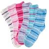 Fuzzy Striped Socks (6 Pairs)