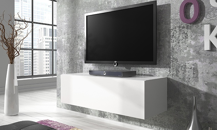 Floating Gloss Tv Cabinet Groupon Goods