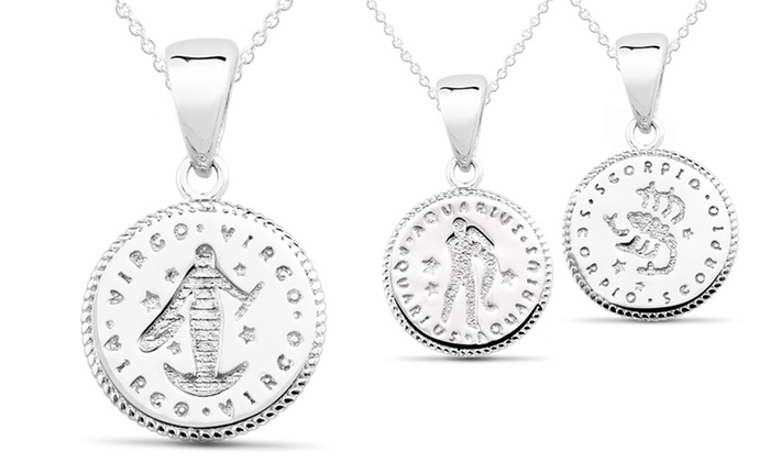 Sterling Silver Horoscope Pendants: Sterling Silver Horoscope Pendant. Multiple Options Available. Free Returns.