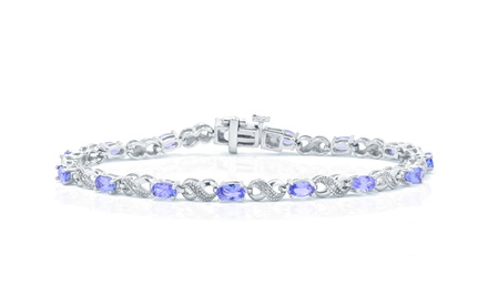 3.60 CTTW Genuine Tanzanite Bracelet