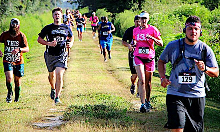 Masters of All Terrain - Wedgefield: 5-Mile Run or Half-Marathon Entry for One or Two at Masters of All Terrain on Saturday, August 31 (Up to 57% Off)