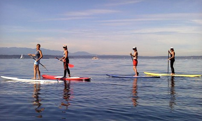 Washington Surf Academy - Washington Surf Academy: Two-Hour Standup-Paddleboard Lesson Tour for One or Two at Washington Surf Academy (Up to 46% Off)