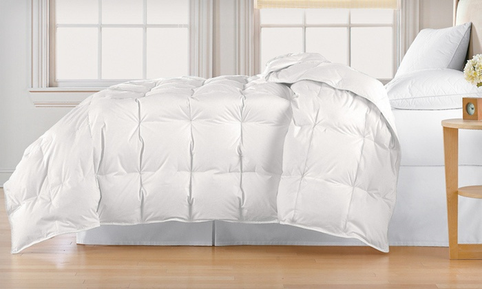 All-Seasons White Down Comforter: All-Seasons White Down Comforter (Up to 66% Off). Three Sizes Available. Free Shipping and Free Returns.