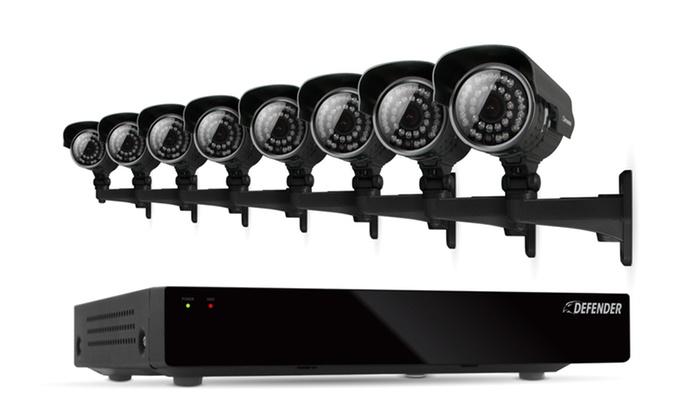 Defender Connected 16-Channel DVR Security System with 8 Cameras: Defender Connected 16-Channel DVR Security System with a 500GB HDD and 8 Outdoor Cameras. Free Returns.