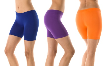 12-Pack of Women's Seamless Hot Shorts in Assorted Colors
