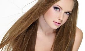 Le Posh Hair Salon: Haircut with Matrix Shine Gloss, Aveda Conditioning, or Multicolor Highlights at Le Posh Hair Salon (Up to 62% Off)