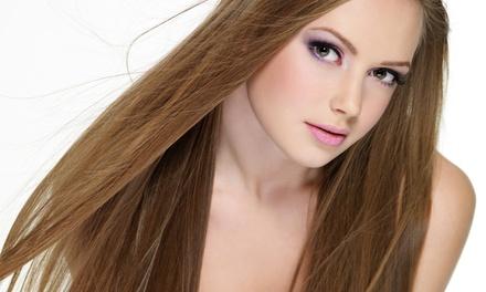 Haircut with Matrix Shine Gloss, Aveda Conditioning, or Multicolor Highlights at Le Posh Hair Salon (Up to 63% Off)