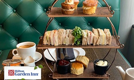 Afternoon Tea with Glass of Fizz for Two or Four at 4* Hilton Garden Inn