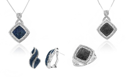 1/4 CTTW Diamond 3-Piece Jewelry Sets